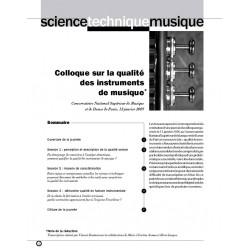 Colloque sur la qualité des instruments de musique
